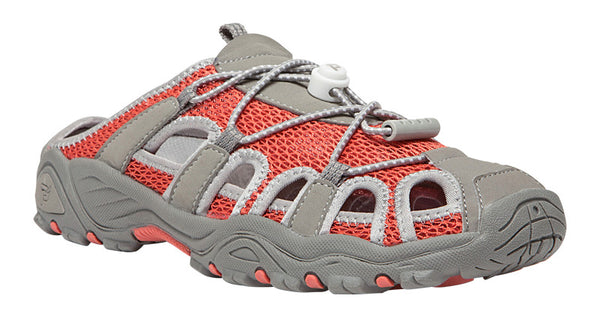 Coral/Grey Propet W03006 Discovery Slide Women's Shoe- Diabetic Shoes