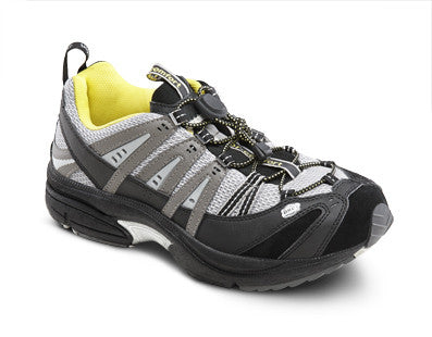 Dr. Comfort Gray/Yellow Performance Men's Athletic Shoe | Diabetic Shoes | Orthopedic Shoe