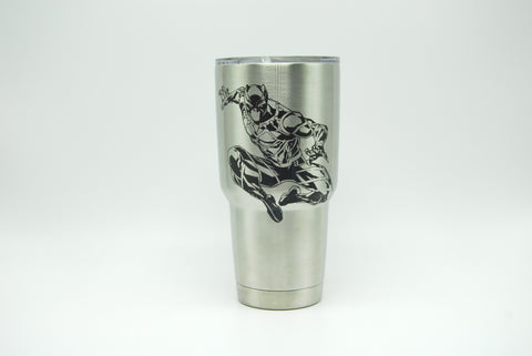 Black Panther Custom Etched Tumbler