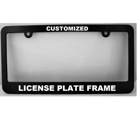 "Custom License Plate Frame: ""New York Style"" ~ Personalized License Frame"