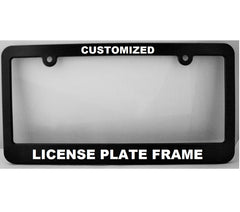 "Custom License Plate Frame: ""New York Style"" ~ Personalized License Frame - Eva's Unity Sand Shoppe"