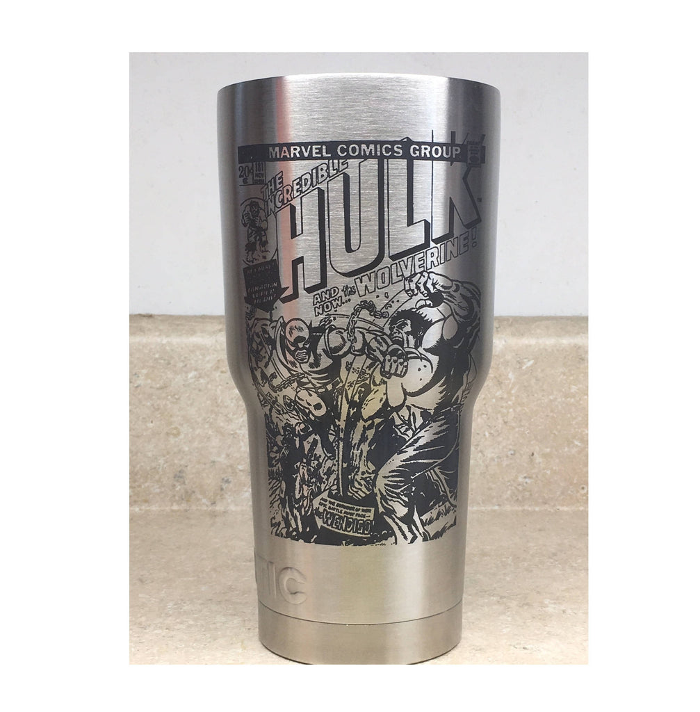 Incredible Hulk 181 Custom Etched Tumbler - Eva's Unity Sand Shoppe