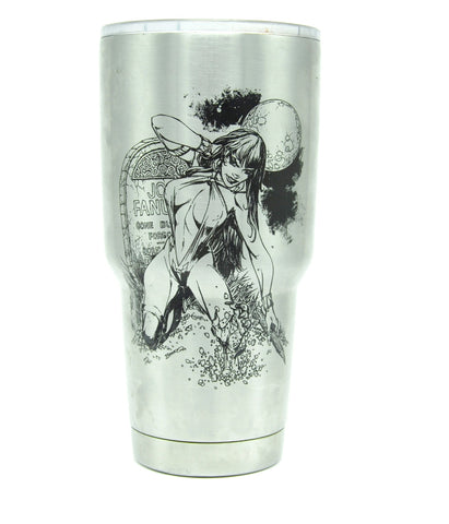Vampirella Laser Etched Tumbler - Laser Etched 30 oz Insulated Stainless Steel Cup
