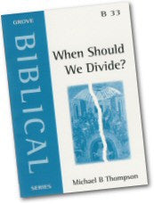 Cover: B 33 When Should We Divide?