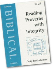 Cover: B 22 Reading Proverbs with Intergrity