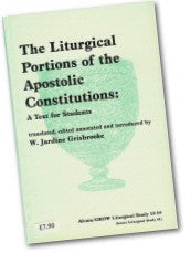 Cover: JLS 13-14 The Liturgical Portions of the Apostolic Contitutions