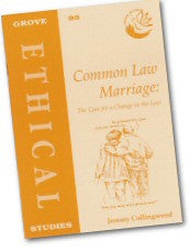 Cover: E 93 Common Law Marriage: The Case for a Change in the Law