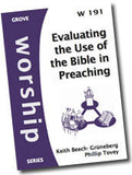 Cover: W 191 Evaluating the Use of the Bible in Preaching