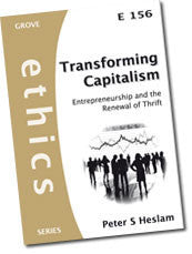 Cover: E 156 Transforming Capitalism: Entrepreneurship and the Renewal of Thrift