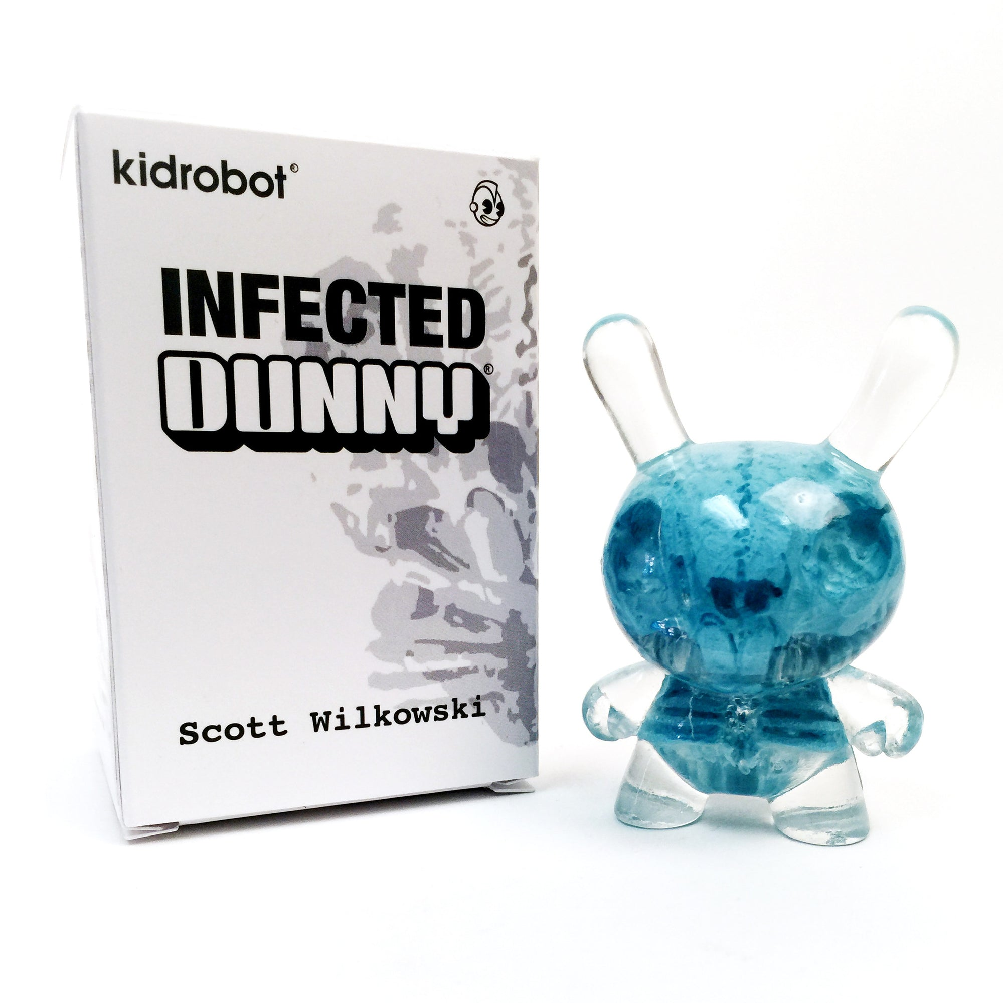 "Cryogenic Blue 3"" Infected Dunny by Scott Wilkowski Now Available at Kidrobot.com"