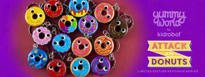 Yummy World Attack of the Donuts Keychains
