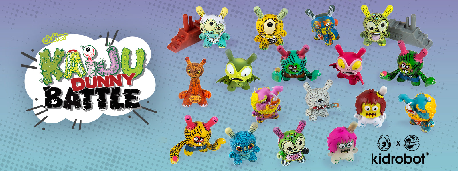 Kaiju Dunny Battle Mini Series by Kidrobot x Clutter - Dunny Art Toys