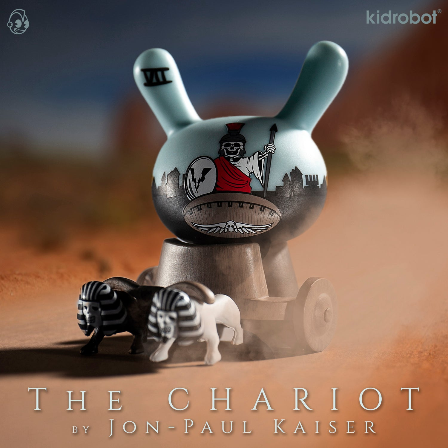 The Chariot Dunny by Jon-Paul Kaiser - Arcane Divination The Lost Cards - Kidrobot
