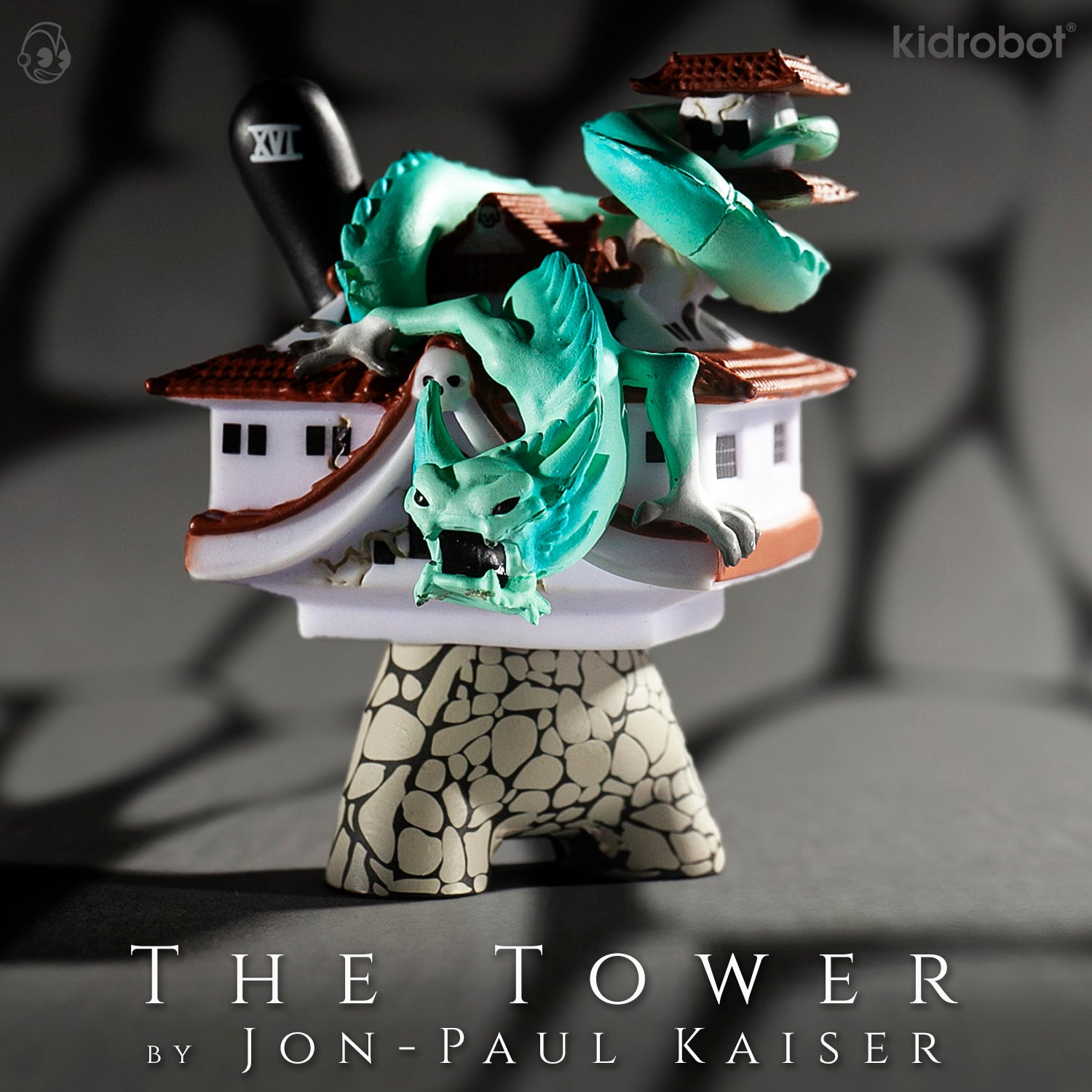 The Tower Dunny by Jon-Paul Kaiser - Arcane Divination The Lost Cards - Kidrobot