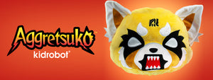 Aggretsuko Reversible Plush by Kidrobot x Sanrio