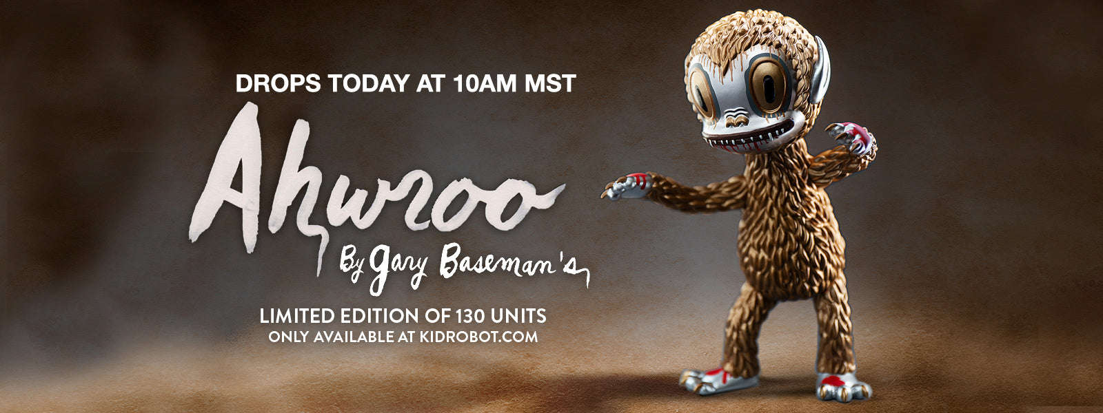 Ahwroo Art Figure by Gary Baseman - Metallic Kidrobot Exclusive