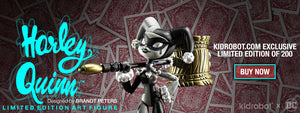 Limited Edition DC Comics Harley Quinn Art Figure by Kidrobot & Brandt Peters