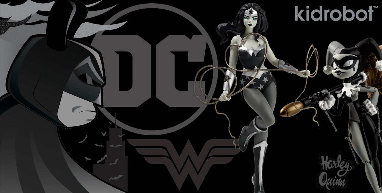 DC Comics x Kidrobot Art Toys, Figures & Plush: Batman, Wonder Woman, Harley Quinn, Joker, Justice League Toys