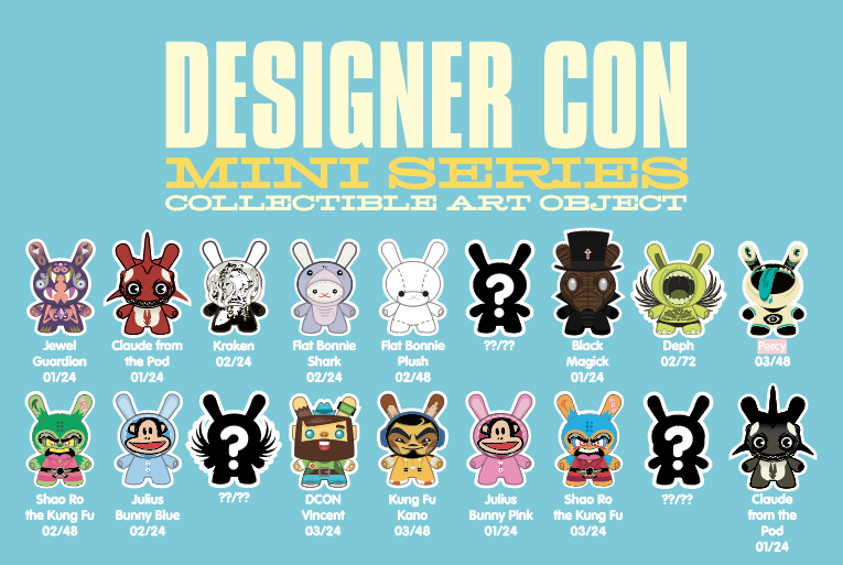 DCON Designer Con Dunny Mini Figure Series by Kidrobot