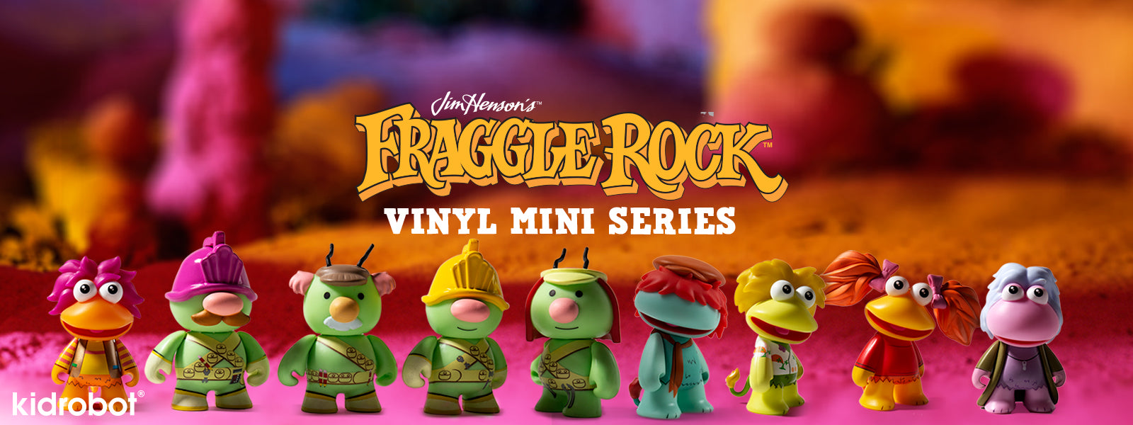 Fraggle Rock x Kidrobot Toys and Art Figures