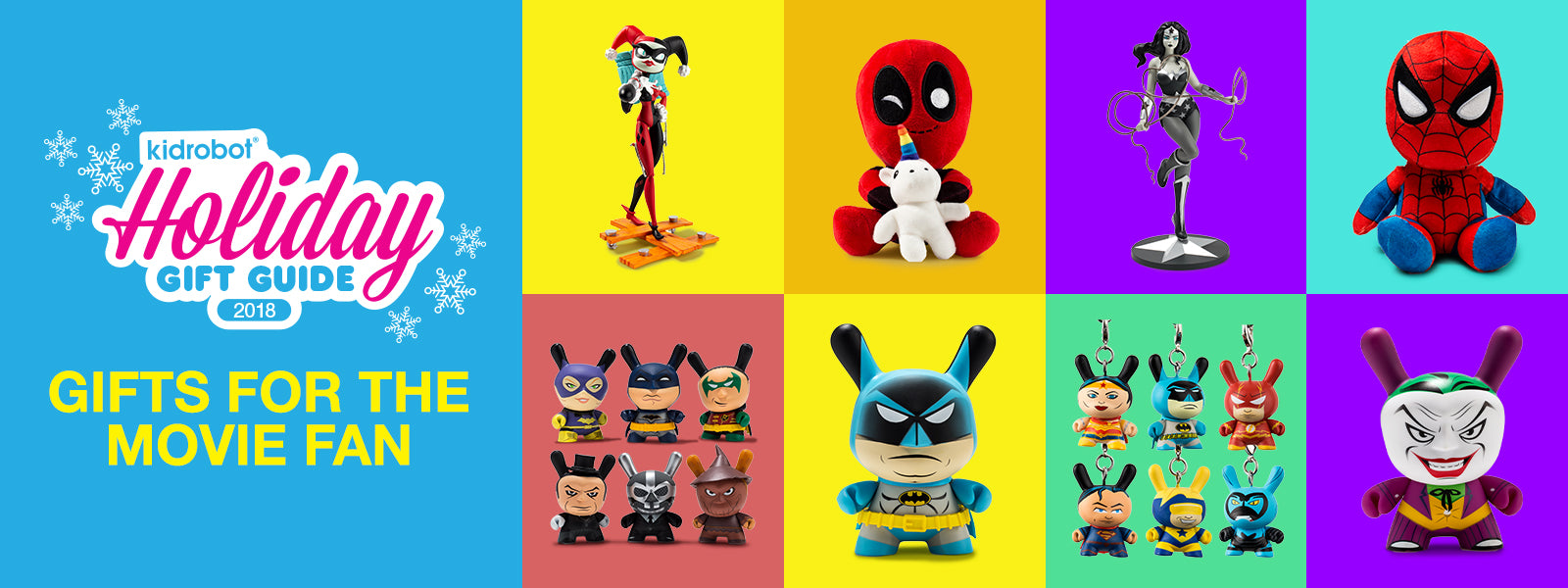 Kidrobot Gift Guide 2018: Gifts for the Movie Fan