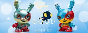 Good 4 Nothing Dunny Art Figure by Laura Colors / 64 Colors x Kidrobot