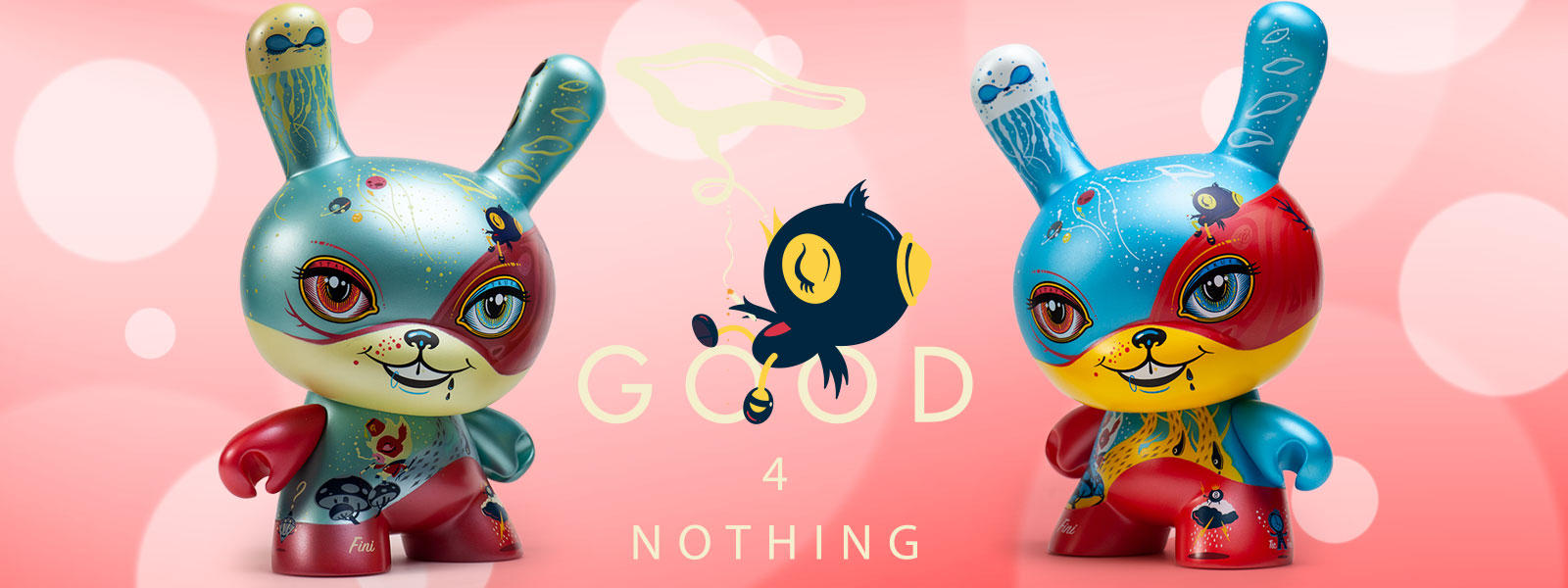 "Good 4 Nothing 8"" Dunnys by 64 Colors - Artist Laura Colors x Kidrobot"