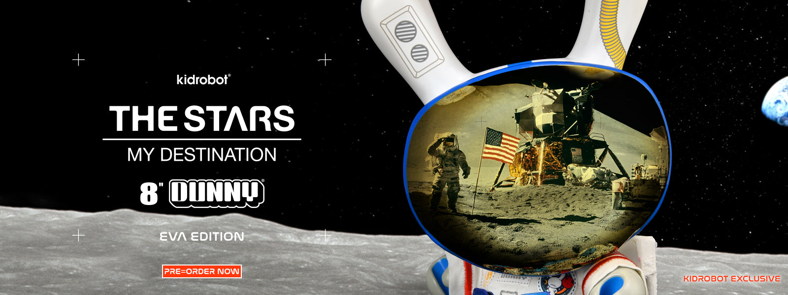 Kidrobot.com Exclusive The Stars My Destination Astronaut Dunny - EVA Edition - Pre-order Now