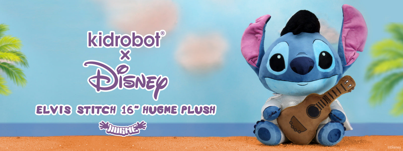 Kidrobot x Disney Elvis Stitch HugMe Plush
