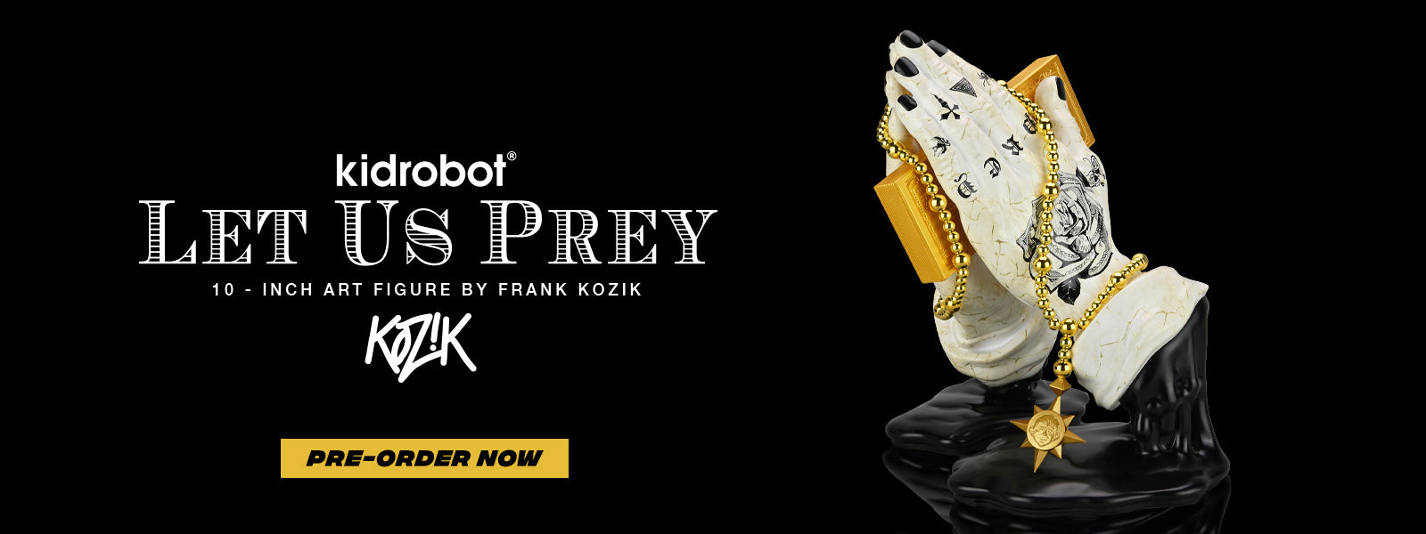 Kidrobot Let Us Prey Tatted Marble Edition - Frank Kozik