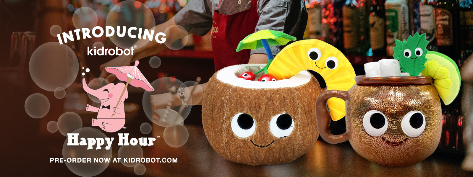 Happy Hour Plush by Kidrobot - Alcohol Drinks in Plush form for Adults
