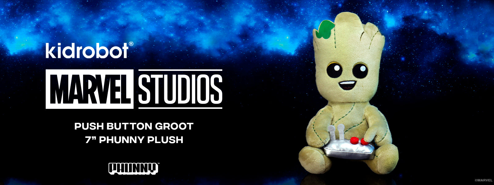 Kidrobot x Marvel - Teen Groot Video Gamer Plush