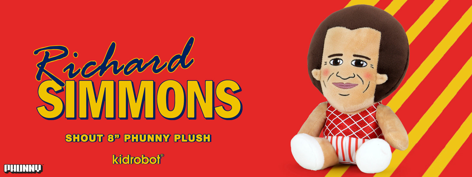 Richard Simmons Shout Phunny Plush from Kidrobot