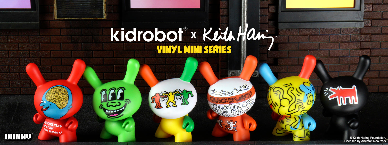 Kidrobot x Keith Haring Collectible Dunny Series - Kidrobot.com