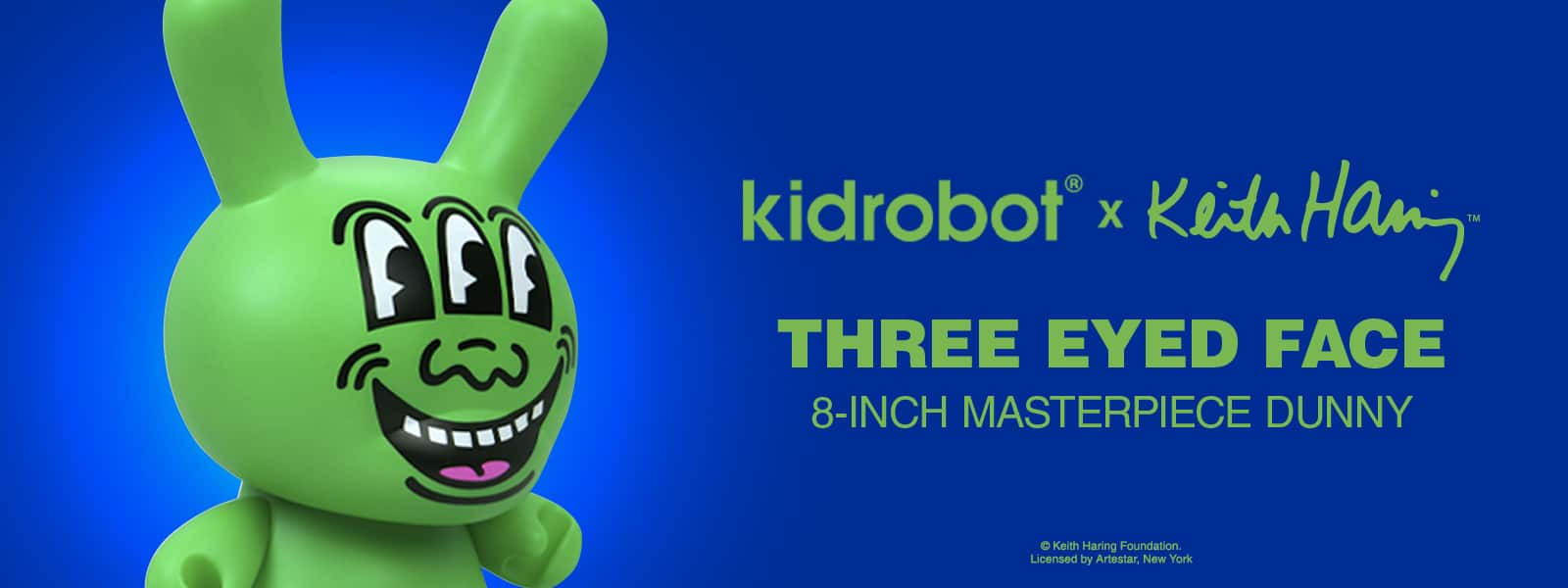 Kidrobot x Keith Haring Three Eyed Face Dunny
