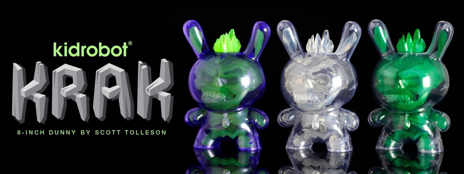 Kidrobot KRAK 8-inch Dunny Art Figures by Scott Tolleson
