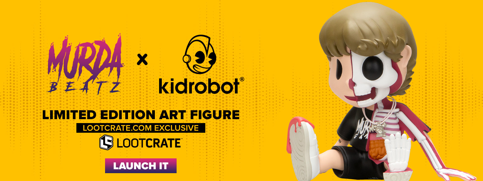 "Limited Edition Murda Beatz x Kidrobot 8"" Figure Now Available at Lootcrate"