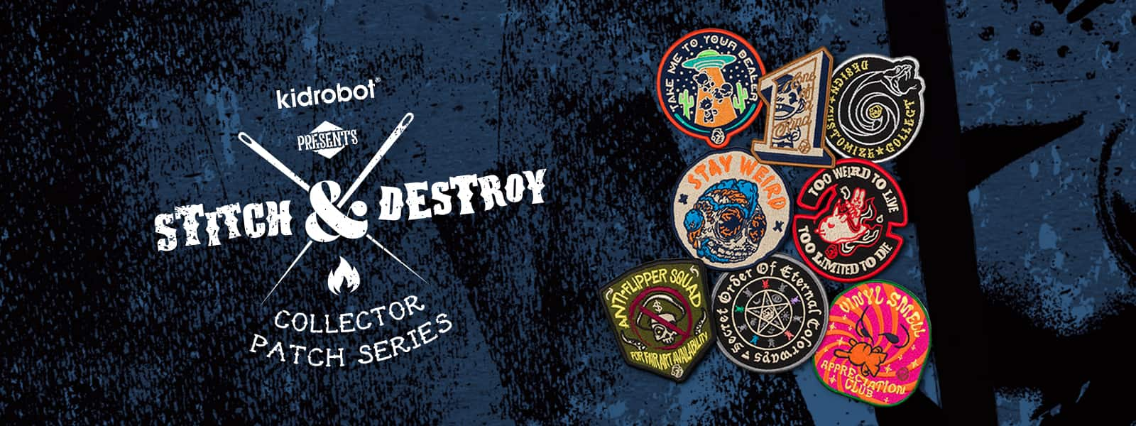 Kidrobot Stitch & Destroy Patches