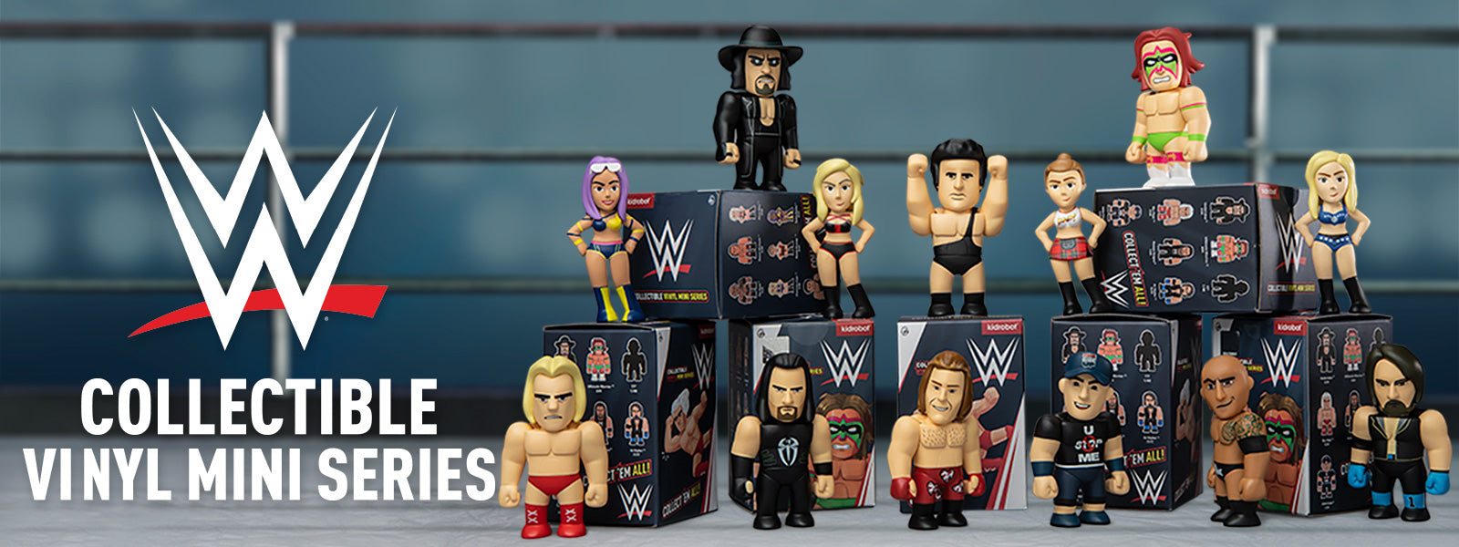 Kidrobot x WWE World Wrestling Entertainment Mini Figure Series