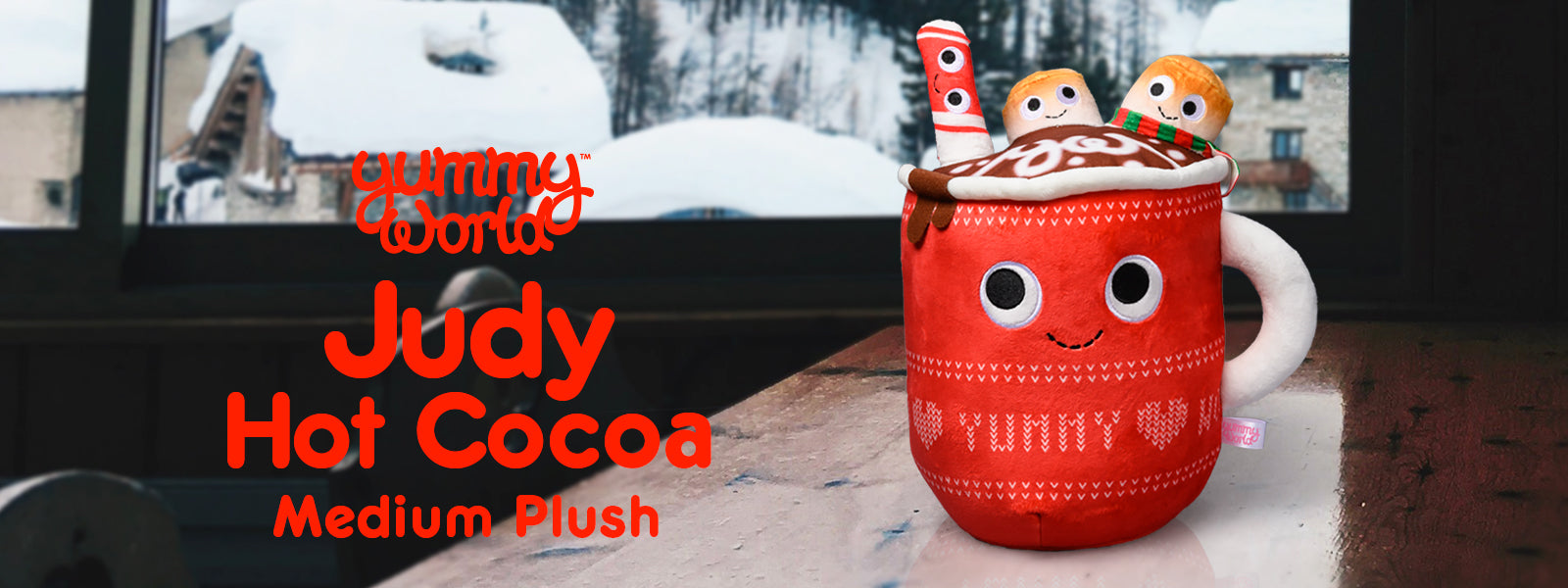 Kidrobot x Yummy World Hot Cocoa Plush Toys