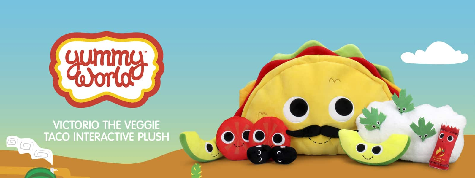 Yummy World Victorio Veggie Taco Plush Set