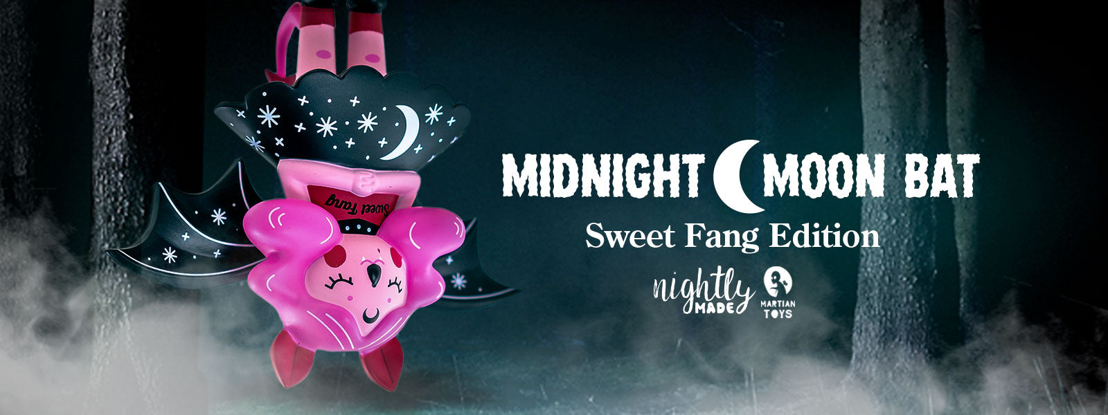 Artist Nightly Made / Megan O'brien Midnight Moon Bat Sweet Fang Edition - Kidrobot