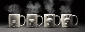 LIMITED EDITION EMERGING DUNNY 4-PIECE MUG SET BY KIDROBOT