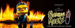 The Simpsons Flaming Moe's Moe Medium Art Figure by Kidrobot