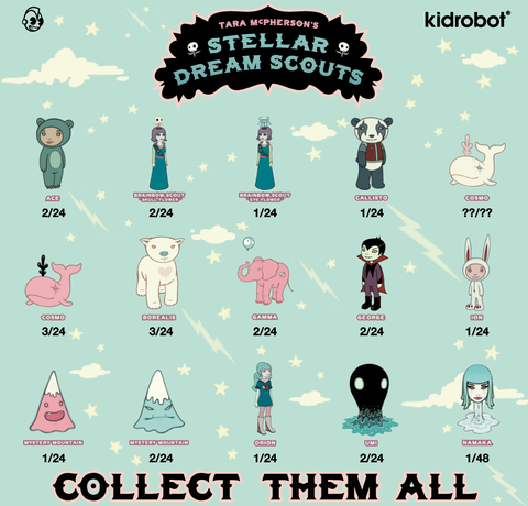 Stellar Dream Scouts by Tara McPherson Ratios