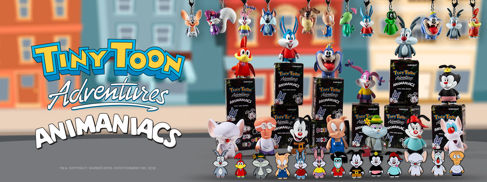 Tiny Toons Adventures, Animaniacs & Pinky and the Brain x Kidrobot