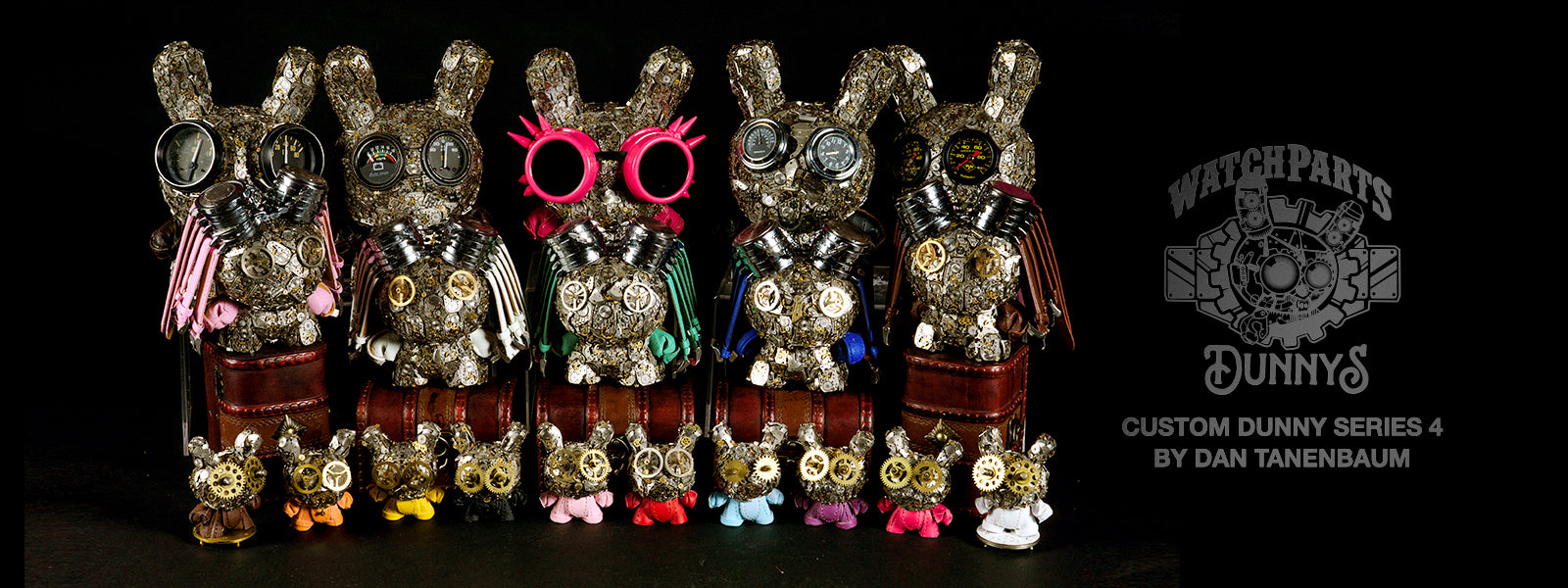 Kidrobot Watch Parts Dunnys Custom Dunny Series 4 by Dan Tanenbaum