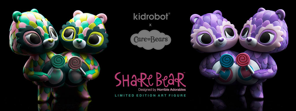 Care Bears Share Bear Art Figures by Horrible Adorables x Kidrobot