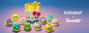 Kidrobot x Sanrio - Hello Kitty Fries Plush and Burger Charms