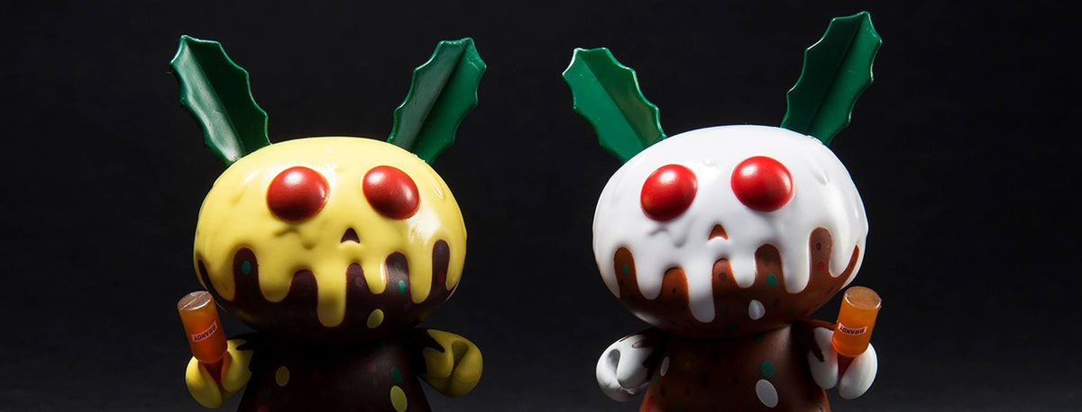 "Kidrobot Christmas Pudding 3"" Dunny by Kronk"